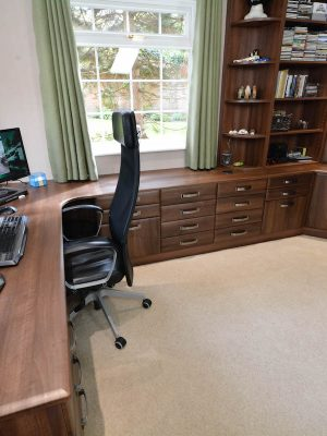 Moulden study large desk space