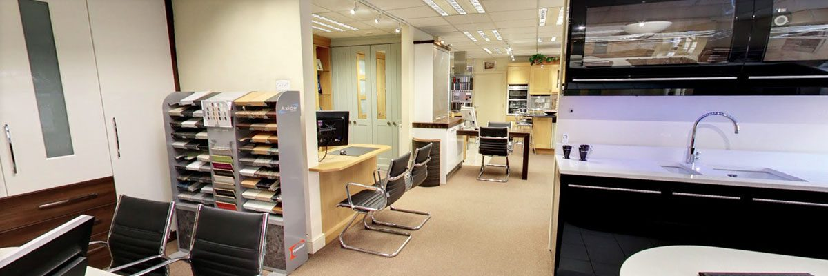 Inside our showroom