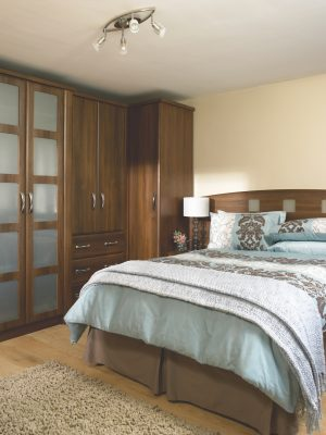 Slab Saponetta DarkWalnut bedroom design
