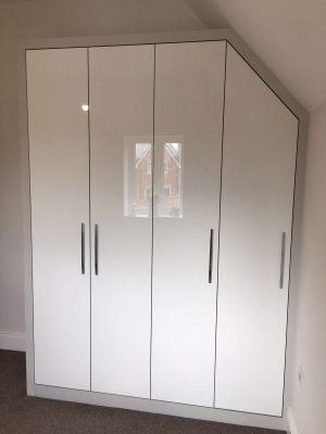 Glossy doors white