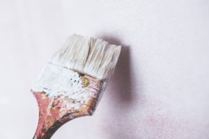 paintbrush on wall