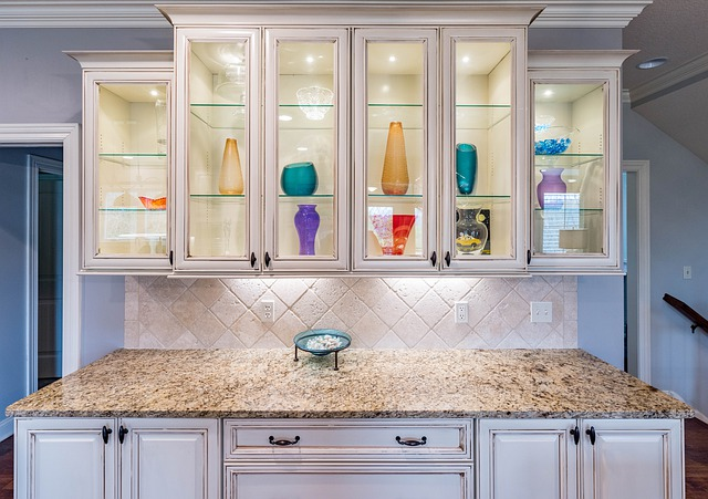 glass cabinets in kitchen