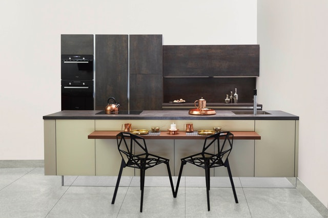copper elements in kitchen